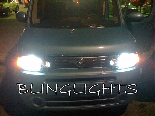2009 2010 2011 Nissan Cube Bright White Bulbs for Headlamps Headlights Head Lamps Lights