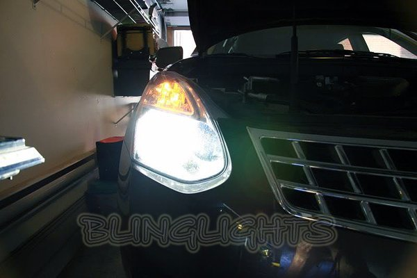 2008 2009 2010 2011 2012 Nissan Rogue Bright White Upgrade Light Bulbs for Headlamps Headlights