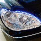 Mercedes A B CL CLS Class LED DRL Head Lamp Light Strips Kit