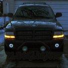 1998-2003 Dodge Durango Halo Fog Lamp Driving Light Kit Angel Eyes