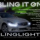 Infiniti G G20 G25 G35 G37 LED DRL Head Light Strips Daytime Running Lamps