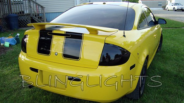 Chevy Cobalt Tinted Smoked Taillamps Taillights Overlays Film Protection
