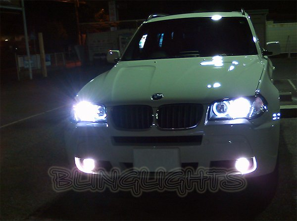 BMW X3 e83 f25 Bright White Low Beam Light Bulbs for Headlamps Headlights Head Lamps Lights