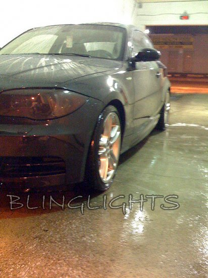 BMW 1 Series E81 E82 E87 E88 F20 Tinted Film Headlamps Headlights Head Lamps Lights Smoked Overlays