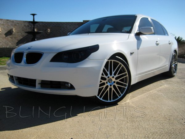 BMW 5-Series E39 E60 E61 F10 F11 Tinted Smoked Headlamps Headlights Protection Overlays Film