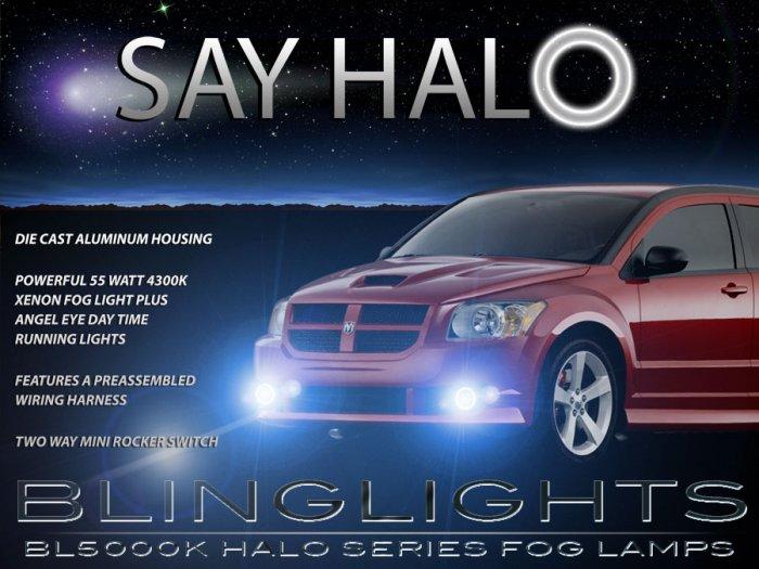 2008 2009 Dodge Caliber SRT-4 SRT4 Halo Angel Eye Foglamps Foglights Driving Fog Lamps Lights Kit