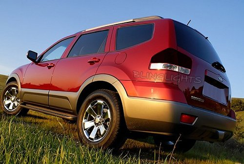 KIA Borrego Mohave Tinted Smoked Taillamps Taillights Overlays Film Protection