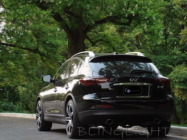 2008 2009 2010 2011 Infiniti EX35 Tinted Overlays Taillamps Taillights Tail Lamps Lights Smoked Film