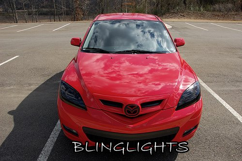 Mazda3 Mazda 3 Smoked Headlamps Headlights Head Lamps Lights Tinted Protection Overlays Tint Film