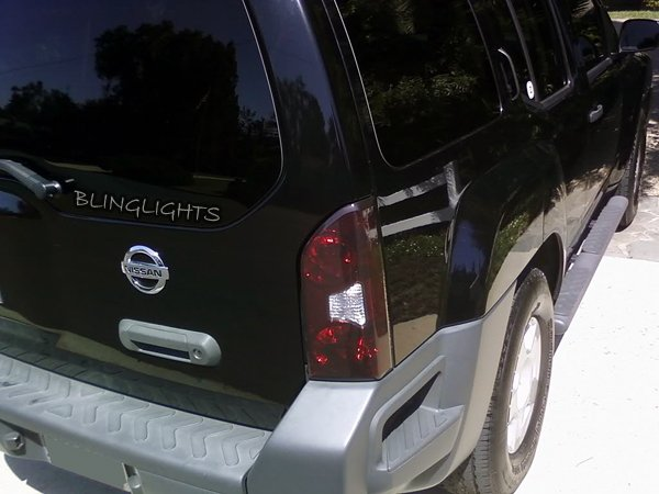 Nissan Xterra Tinted Smoked Protection Overlays Film for Taillamps Taillights Tail Lamps Lights