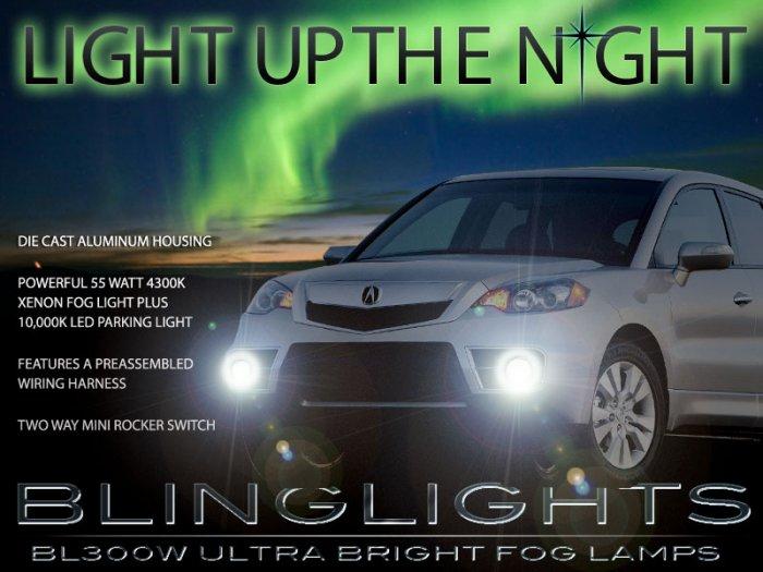 2010 2011 2012 Acura RDX Xenon Foglamps Foglights Drivinglights Driving Fog Lamps Lights Kit