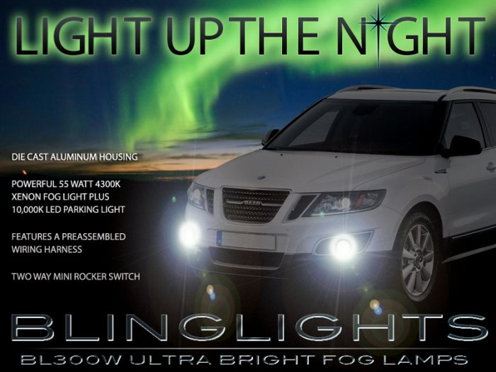 2011 Saab 9-4X Xenon Fog Lamps Driving Lights Kit