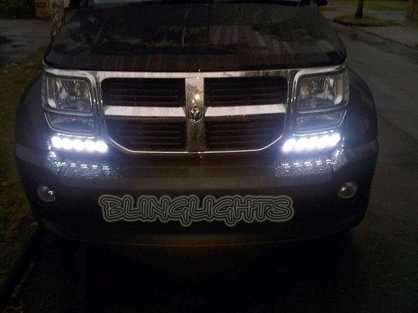 Dodge Nitro LED DRL Light Strips for Headlamps Headlights Day Time Running Lamps Lights