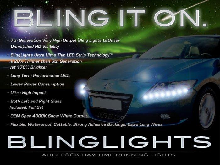Honda CR-Z LED Head Lamp Strips Day Time Running Lights Kit CRZ DRLs