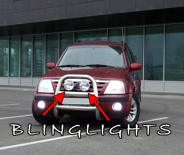 Suzuki XL-7 XL7 Offroad Light Bar Auxilliary Driving Lamps Off Road Aux Grill Lamp Kit Grille Lights
