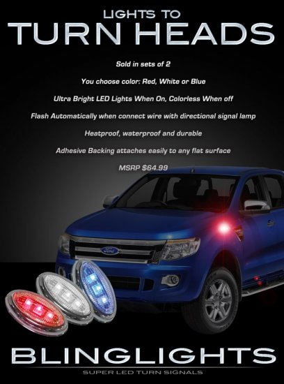 Ford Ranger LED Side Accent Markers Turnsignal Lights LEDs Turn Signaler Signal Lamps