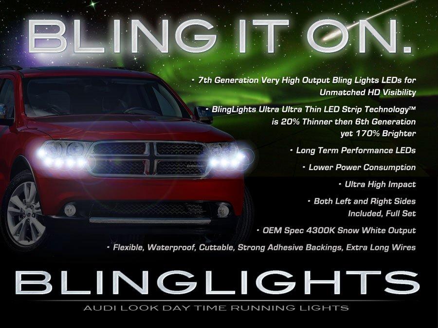 Dodge Durango LED DRL Head Lights Strips Daytime Running Lamps Kit