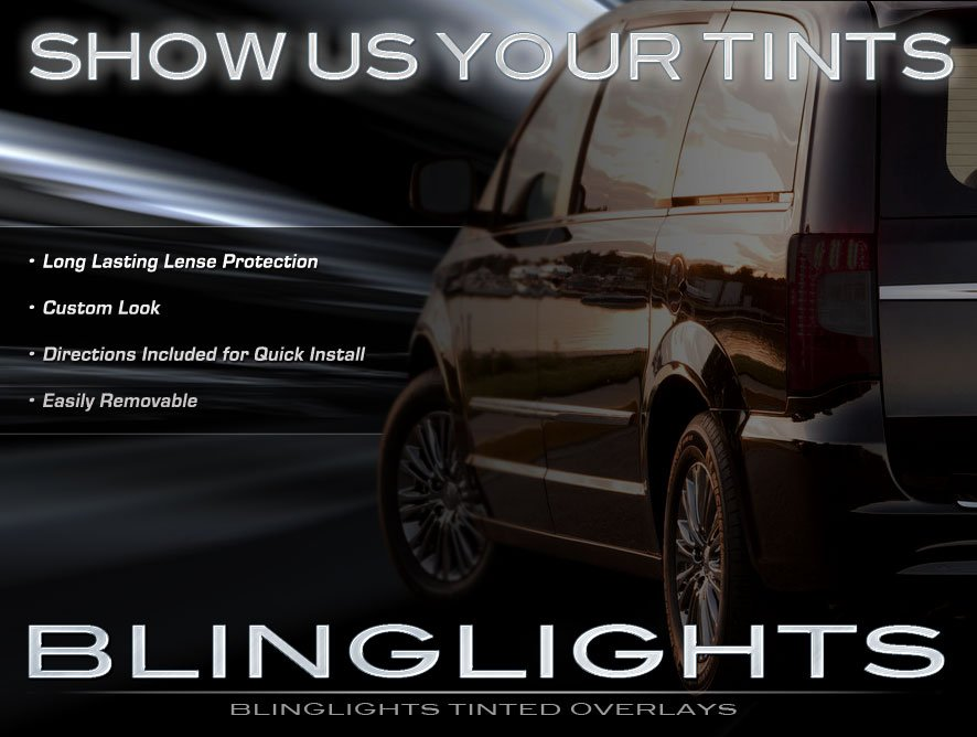 Chrysler Town & and Country Tinted Smoked Protection Overlays Film for Taillamps Taillights