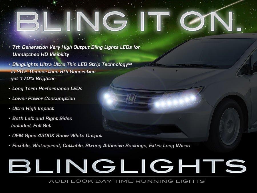 Honda Odyssey LED DRL Head Lights Strips Day Time Running Lamps Kit