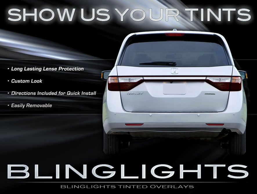 Honda Odyssey Tinted Tail Lamp Light Overlays Kit Smoked Protection Film