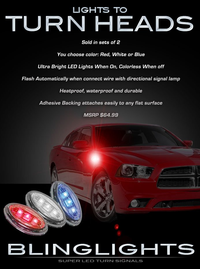 Dodge Charger LED Turnsignals Accent Turn Signals Marker Signalers LEDs Lights Lamps
