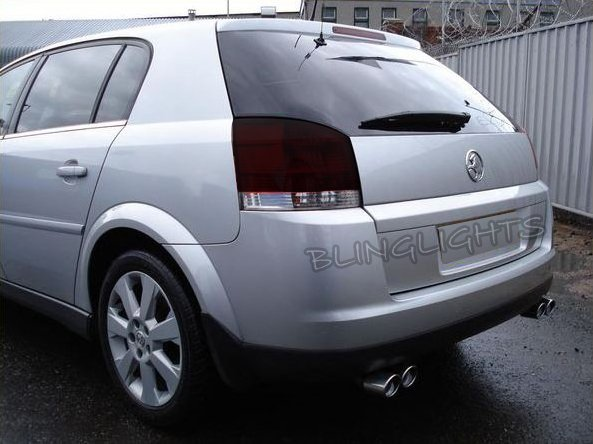 Opel Vauxhall Signum Tinted Smoked Taillamps Taillights Protection Overlays Film