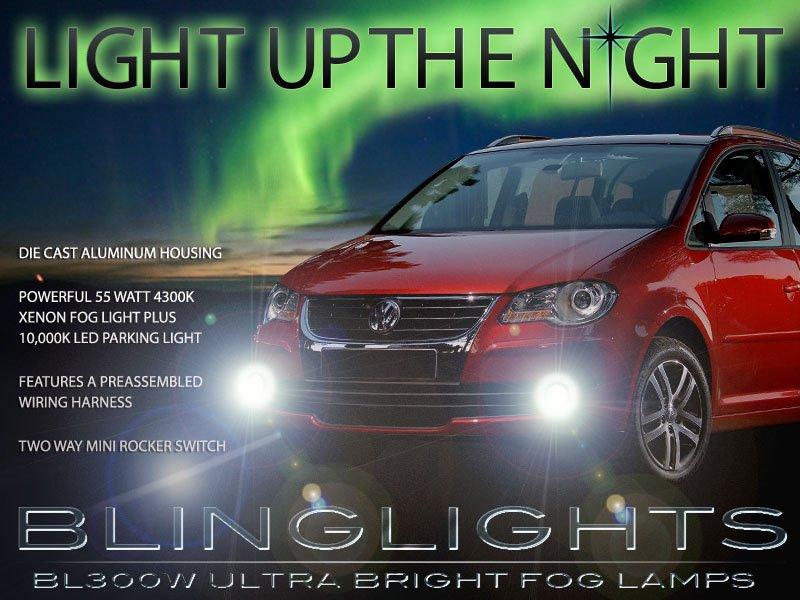 2007 2008 2009 2010 Volkswagen Touran Xenon Foglamps Foglights Fog Lamps Lights Kit VW