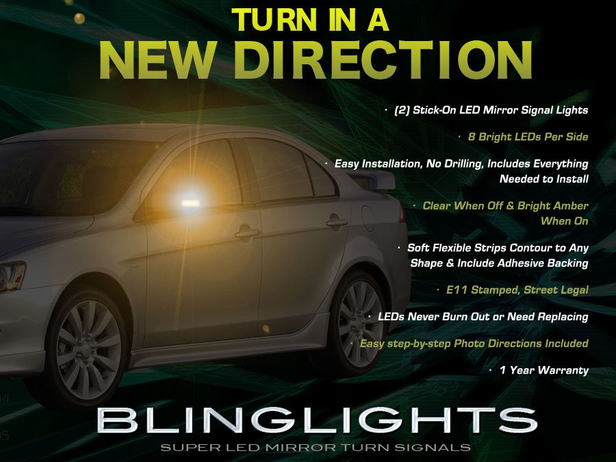 Mitsubishi Lancer LED Side View Mirror Turnsignals Add On Lights