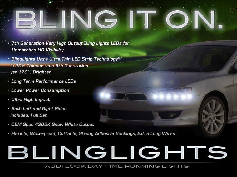 Mitsubishi Lancer LED DRL Head Light Strips Day Time Running Lamp Pair Set