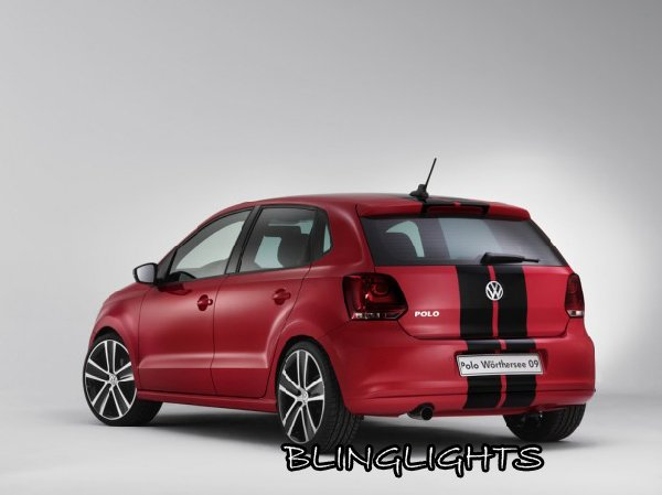Volkswagen VW Polo Tinted Protection Smoked Overlays for Taillamps Taillights Tail Lamps Lights