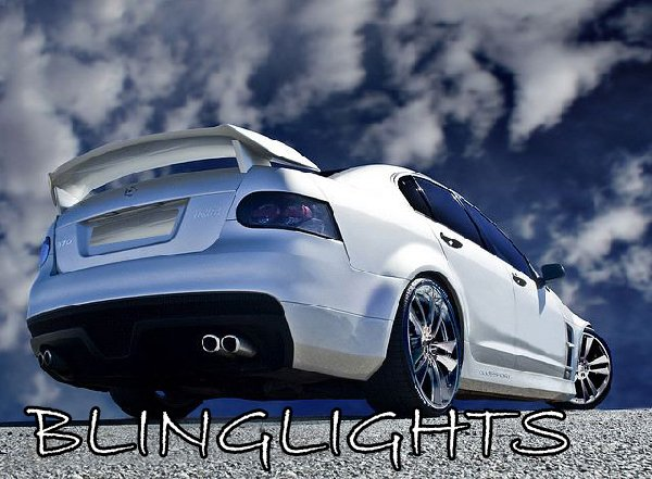 Holden Commodore Tinted Tail Lamp Light Smoked Overlays Lense Film Protection Kit
