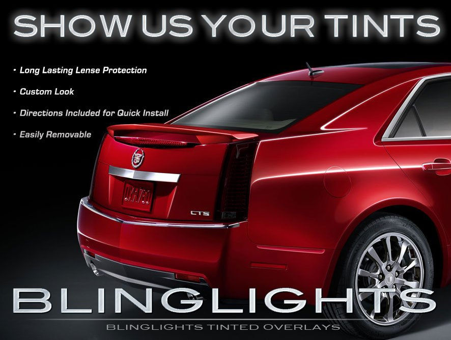 Cadillac CTS Murdered Out Taillamp Tinted Light Covers