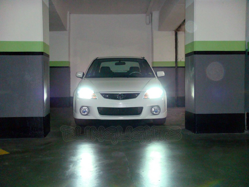 Mazda Protege Protege5 323 Familia Bright White Light Bulbs Headlamps Headlights Head Lamps Lights