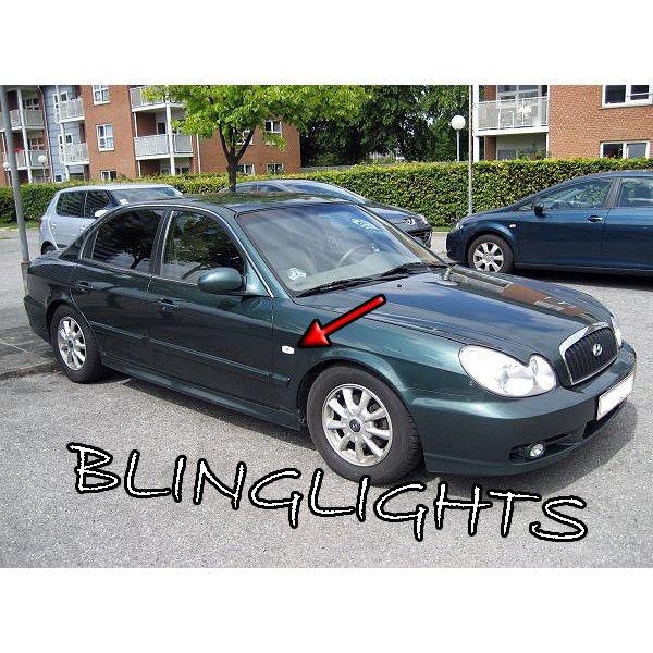 Hyundai Sonata LED Side Marker Turnsignals Lights Turn Signals Signalers Lamps Turnsignal Markers