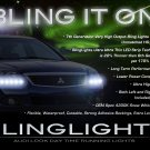 Mitsubishi Galant LED DRL Light Strips Headlamps Headlights Head Lamps Day Time Running Strip Lights