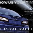 Mitsubishi Galant Tinted Smoked Protection Overlays for Taillamps Taillights Tail Lamps Lights