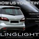 2012 2013 2014 Mazda5 Smoke Tail Lamp Light Overlay Kit Tinted Protection Film