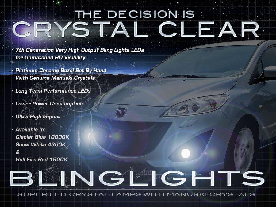 2012 2013 2014 Mazda5 Mazda 5 LED Foglamps Foglights Driving Fog Lamps Lights Kit