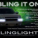 GMC Yukon LED DRL Head Light Strips Day Time Running Lamps Kit