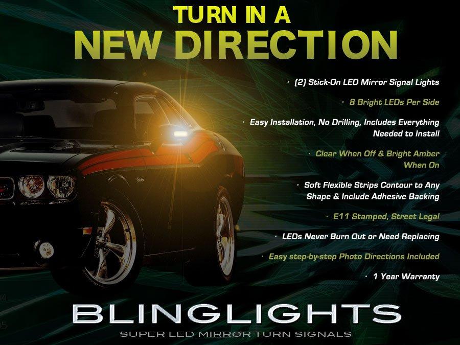 Dodge Challenger LED Side Mirror Turn Signal Light Lamp Kit Set