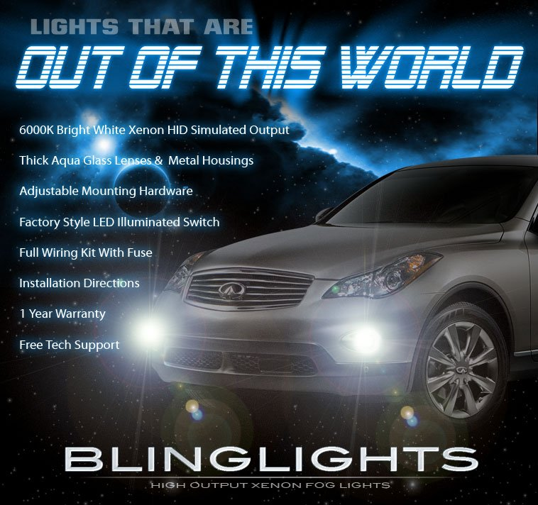 Infiniti Ex35 2011: 2008 2009 2010 2011 Infiniti EX35 Xenon Foglamps Foglights