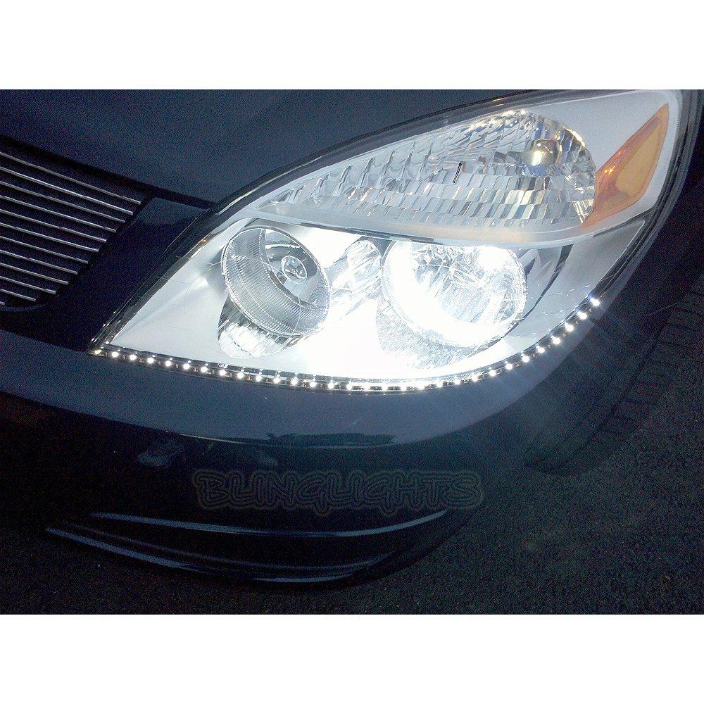 2007 2008 2009 Saturn Aura Led Drl Strip Lights Leds Drls Strips For Headlamps Headlights Head Light