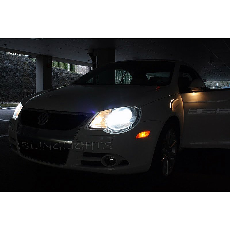 VW Volkswagen EOS HID Simulated Head Light Bulbs Lamp Set Replacement Upgrade pair