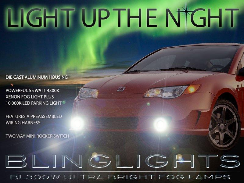 2004 2005 2006 2007 Saturn Ion Red Line Xenon Foglamps Bumper Foglights Driving Fog Lamps Lights Kit