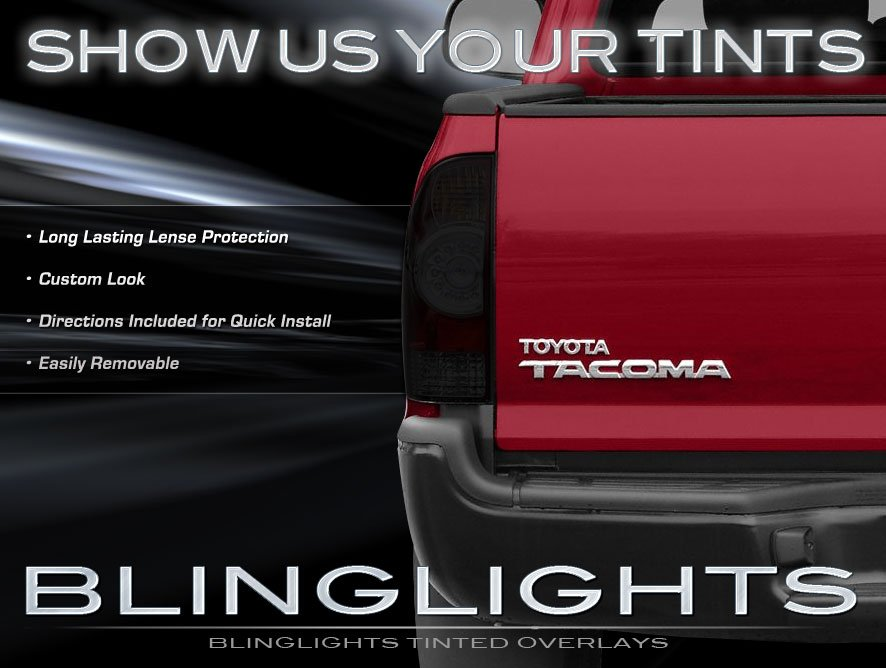 2009 2015 toyota tacoma tinted tail light covers lamp overlays. Black Bedroom Furniture Sets. Home Design Ideas