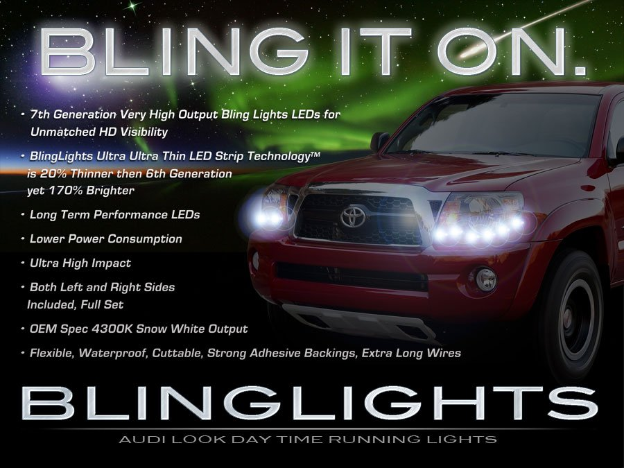 Toyota Tacoma LED DRL Head Light Strips Day Time Running Lamp Kit