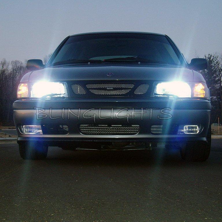 1999 2000 2001 2002 Saab 9-3 Bright White Lights Bulbs for Headlamps Headlights Head Lamps Lights