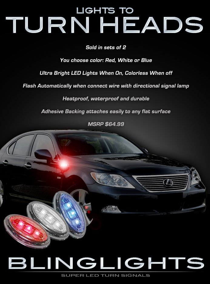 1998 1999 2000 Lexus LS400 LS LED Side Marker Accent Turnsignal Turn Signal Lights Indicator Lamps