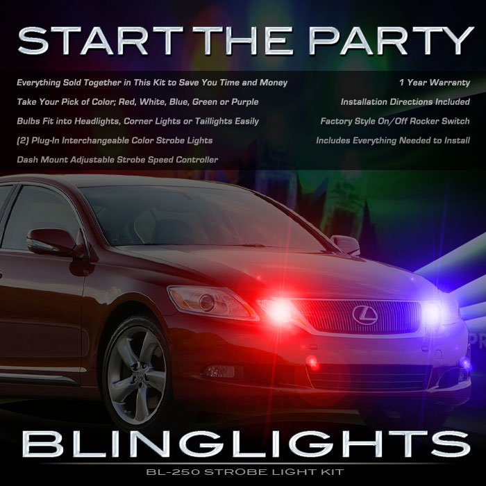 Lexus GS Strobe Lights for Headlamps Headlights Head Lamps GS300 GS350 GS400 GS430 GS450h GS460