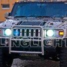 Hummer H2 White Light Bulbs Headlamps Headlights Head Lamp Lights 2003 2004 2005 2006 2007 2008 2009